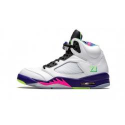"Mens Air Jordan 5 Alternate Bel-Air White/Court Purple-Racer Pink-"""