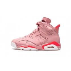 """Womens Air Jordans 6 Millennial Pink """"Rust Pink/Bright Crimson"""""""