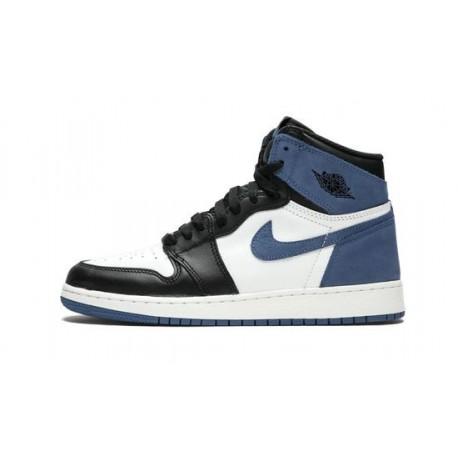 Mens Air Jordan 1 High OG Blue Moon Summit White/Blue Moon-Black