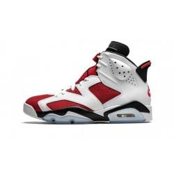 """Mens Air Jordans 6 Carmine """"White/Black-Carmine"""""""