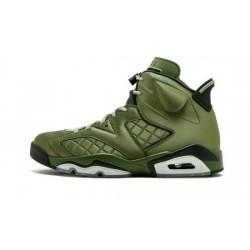 "Mens Air Jordans 6 Pinnacle ""Promo Flight Jacket""Palm Green/Palm Green-Black"