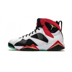 Mens Air Jordans 7 Greater China White/Chile Red-Black-Metallic