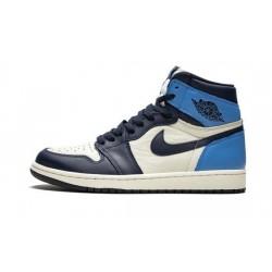 """Mens Air Jordan 1 High OG """"Obsidian/University Blue""""Sail/Obsidian-University Blue"""