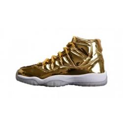 Mens Air Jordan 11 Metallic Gold White/Metallic Gold/Black