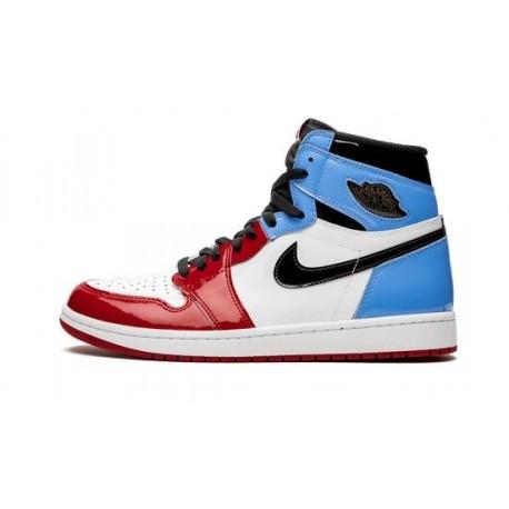 Jordan 1 High Fearless Blue Red