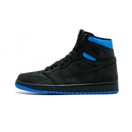 "Mens Air Jordan 1 High OG Quai 54 ""Black/Italy Blue"""