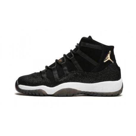 "Mens Air Jordan 11 Premium Heiress ""Black/Metallic Gold-White"""
