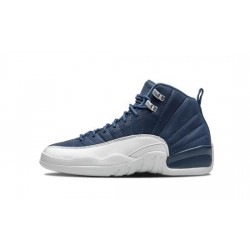 "Mens Air Jordan 12 Stone Blue ""Stone Blue/Legend Blue-Obsidia"""