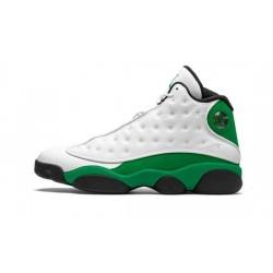 "Mens Air Jordan 13 Lucky Green ""White/Black-Lucky Green"""