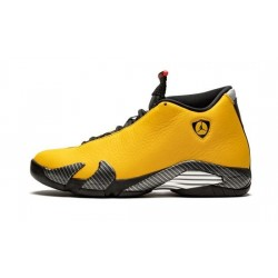"Mens Air Jordan 14 Ferrari Yellow ""University Gold/Black-Universi"""