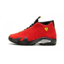 "Mens Air Jordan 14 Ferarri Red ""Chllng Rd/Blck-Cbrnt Yllw-Anth"""