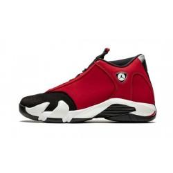 "Mens Air Jordan14 Gym Red ""Black/White-Off White-Gym Red"""