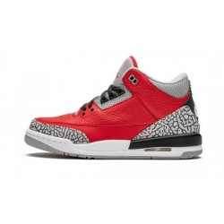 """Youth Air Jordan 3 Red Cement """"Varsity Red/Varsity Red-Cement"""""""