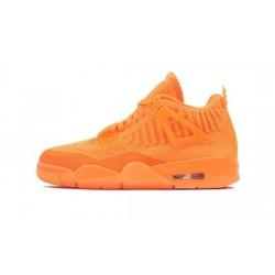 Mens Air Jordan 4 Flyknit Orange Total Orange/Total Orange-Total Orange