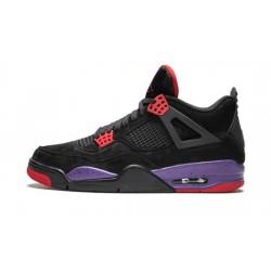 Mens Air Jordan 4 Raptors Black/Court Purple-University