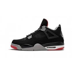 Mens Air Jordan 4 Bred Black/Cement Grey-Summit White