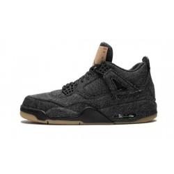Mens Jordan 4 X Levis Black Black/Black
