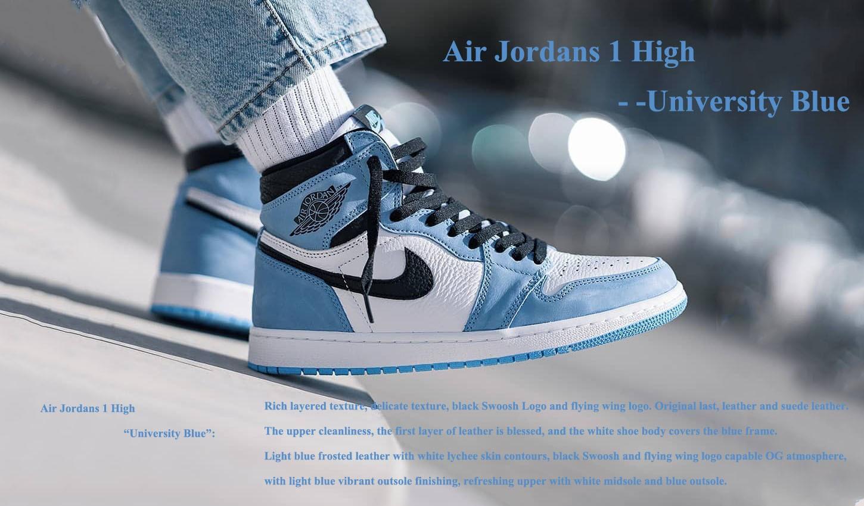 Air Jordans 1 High University Blue